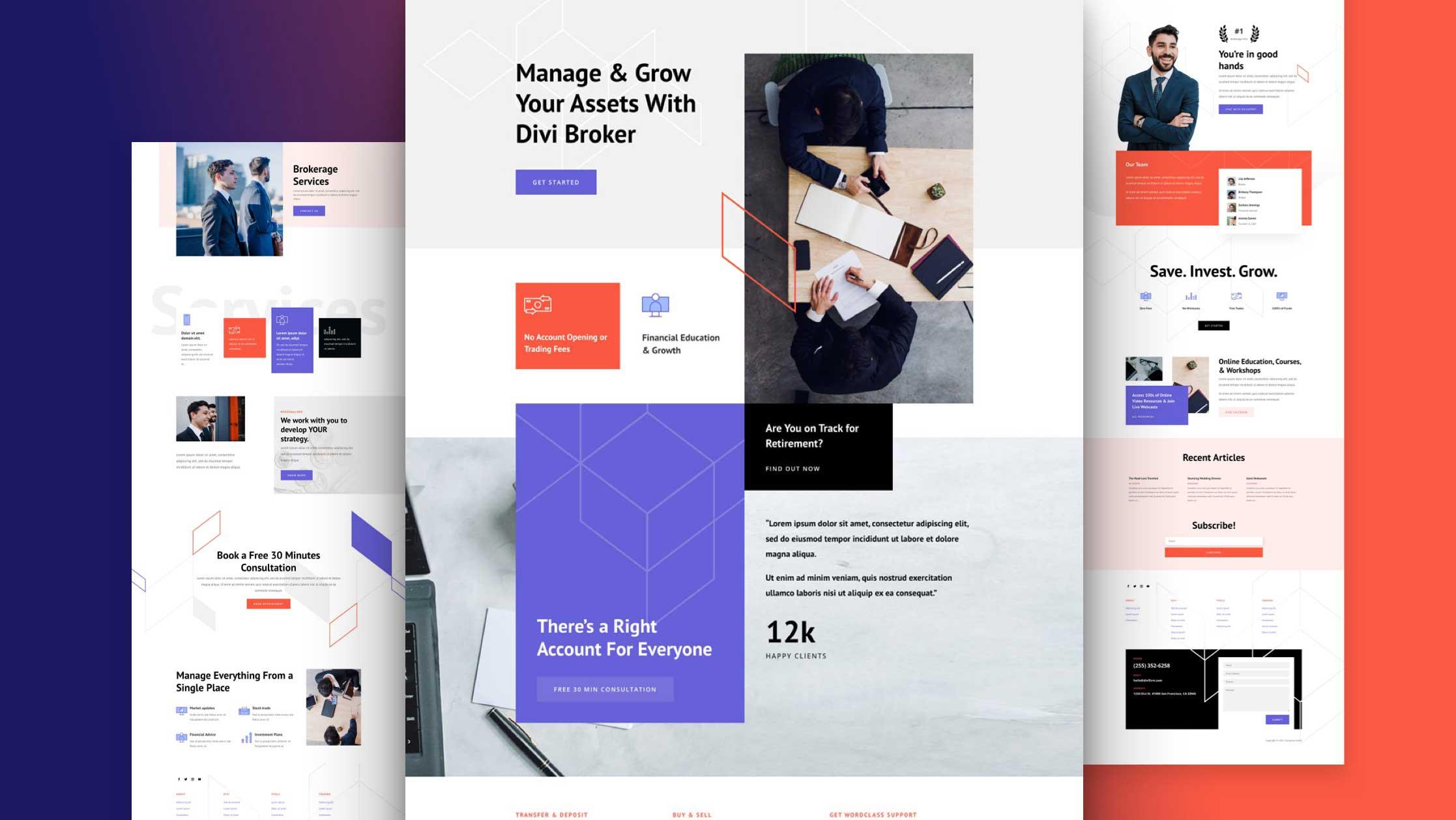 Web Design for Brokerage Firm